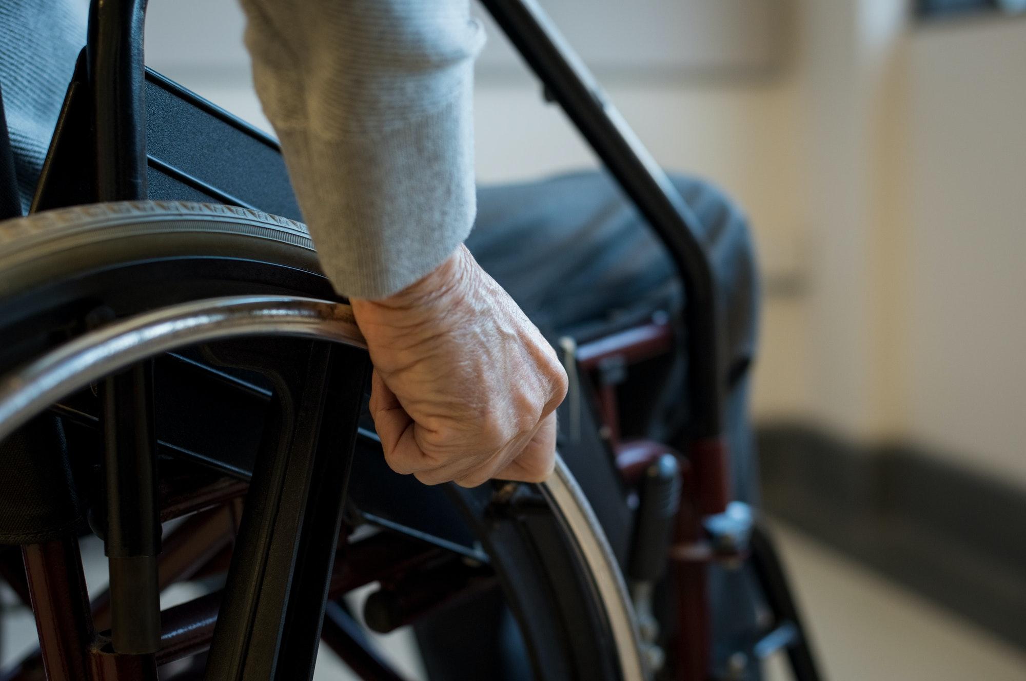 Senior on wheelchair